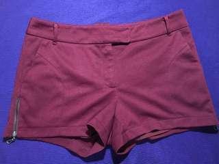 (FREE SHIPPING) Maroon Shorts