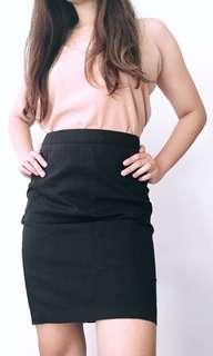 Essenxa black Corporate Skirt