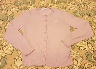 🚚 女生專櫃玫瑰花亮珠針織外套