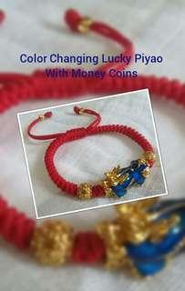 Color Changing Lucky Piyao with money coins