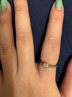Pandora heart shape ring
