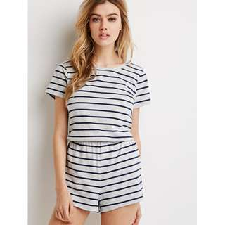 f873194541bd Forever 21 Heathered Stripe Romper