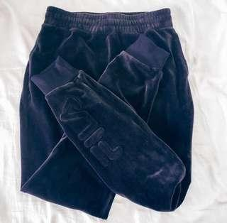 FILA VELVET TRACKPANTS NAVY