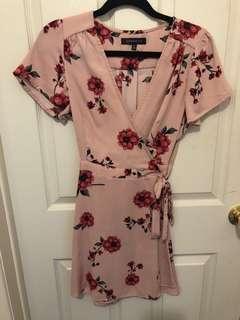 DYNAMITE pink floral dress