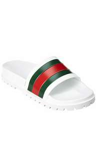 832430c0a51c99 Gucci Leather Web Slide