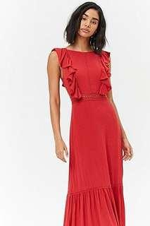 New forever 21 red maxi dress with tags