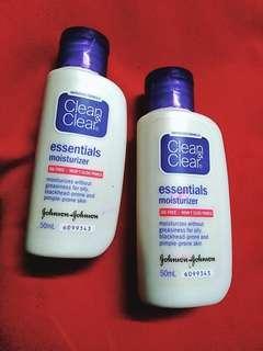 Clean&Clear Essentials Moisturiser 50MLx2