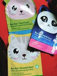 3x Assorted Bye Bye Eye Mask Range from Guardian