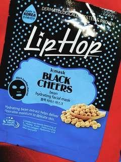 LipHop K:Mask x 2's (Black Cheers Bean for Hydrating + Vita F Skin Vitamin for Repairing Skin