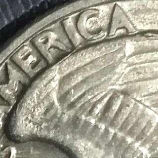 1965 USA Quarter Coin With Error