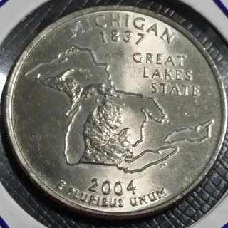 "2004 USA Quarter State Coin ""Michigan"""