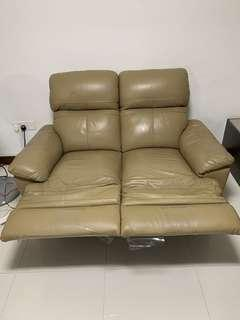 2 seater sofa with leg rest !! $50
