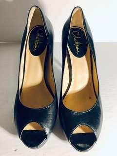 COLE HAAN Womens 10B Black Leather Stiletto Platform High Heels Shoes, K9 D31069