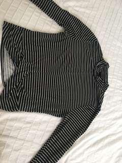 Striped crop turtle neck from Sirens