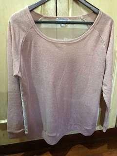 Cotton On Glittery Pink Sweater