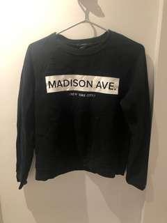 Forever 21 Madison Ave black sweater size small