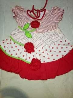 Dress anak bunga merah