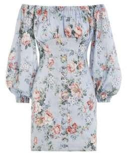 ZIMMERMANN BOWIE OFF THE SHOULDER DRESS SIZE 0 NEW
