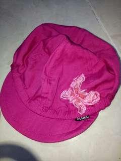 Topi anak kupu kupu pink brand nobel
