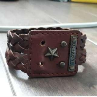 Brand New Diesel Leather Cuff Bracelet