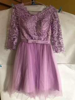 Elegant Violet & Peach dress