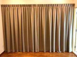 Khaki tan beige curtains - high quality Blackout