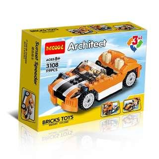 DECOOL™ 3108 Creator 3in1 Sunset Speeder