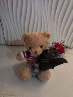 valentine day gift rose with bear