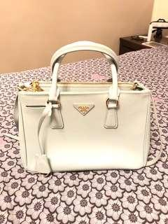 Prada Saffiano Bag in baby blue