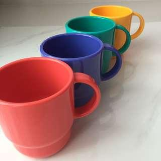 Tuppwerware Mugs | Microwaveable | Set of 4 | Exclusive | Limited Edition