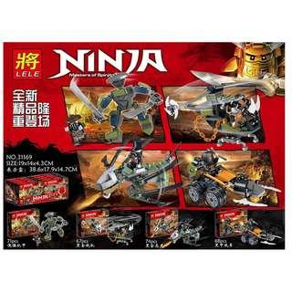 LELE™ 31169 Ninjago Dragon Hunters 4in1 Set