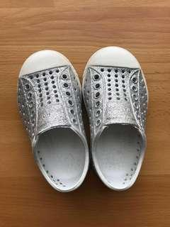 Native Toddler Shoes Jefferson Bling (Silver Bling/Shell White)