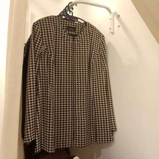 [PRICE REDUCED] PLUS SIZE MS READ Houndstooth Outerwear/Blazer