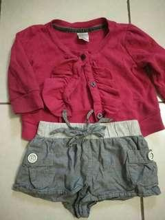 (📮 Postage Included) 12-18 mo girl top and short set