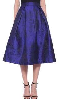 Love bonito Embossed Midi Skirt XL