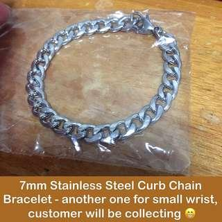 🚚 Stainless Steel 7mm Curb Chain Bracelets [customise to wrist size; uncle anthony] FOR MORE PICS & DETAILS, 👉http://carousell.com/p/113417246