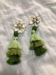 Acrylic Tassel Oversized Earrings