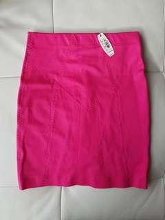 Victoria Secret shapwear mini skirt with panty, XS, hot pink
