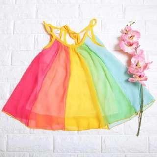 🚚 Instock - colorful swirl dress, baby infant toddler girl