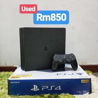 Playstation 4 PS4 Slim Used 500GB Black