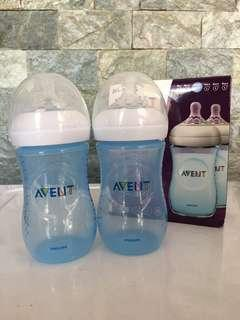 Avent Natural 9oz Bottle Blue Twin Pack