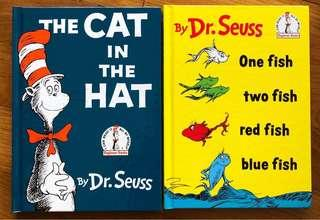 Cat in the hat. Dr Seuss Books. Hardcover. Mint.