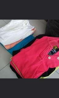 Ladies / older kids girl polo shirt & dress & short pant