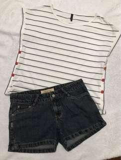 Naf Naf Top & Shorts set