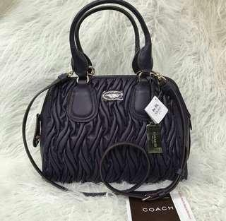 AUTHENTIC COACH GATHERED LEATHER - WITH MINOR FLAW - SEE PHOTOS
