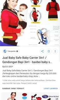 Baby safe carrier 3 in 1