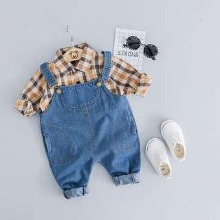 🚚 牛仔褲+襯衫