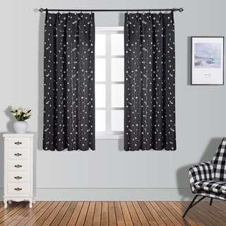 🔥2pcs Star Curtain Solid Colour🔥