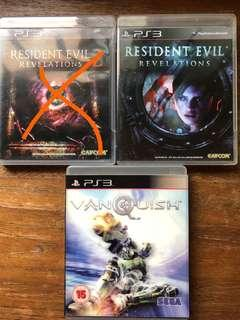 🚚 PS3 resident evil and vanquish