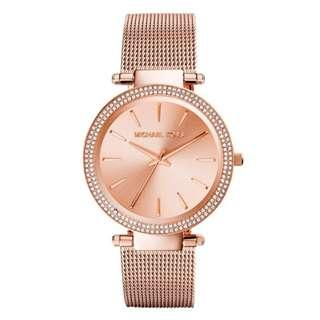 e462423f5721 NEW Michael Kors MK3369 Women s Ladies Darci Rose Gold Stainless Steel Mesh  Watch